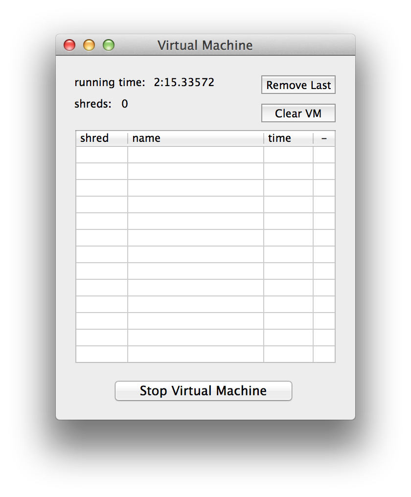 Virtual Machine Monitor Window