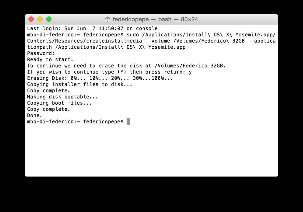 Formattare OS X Yosemite