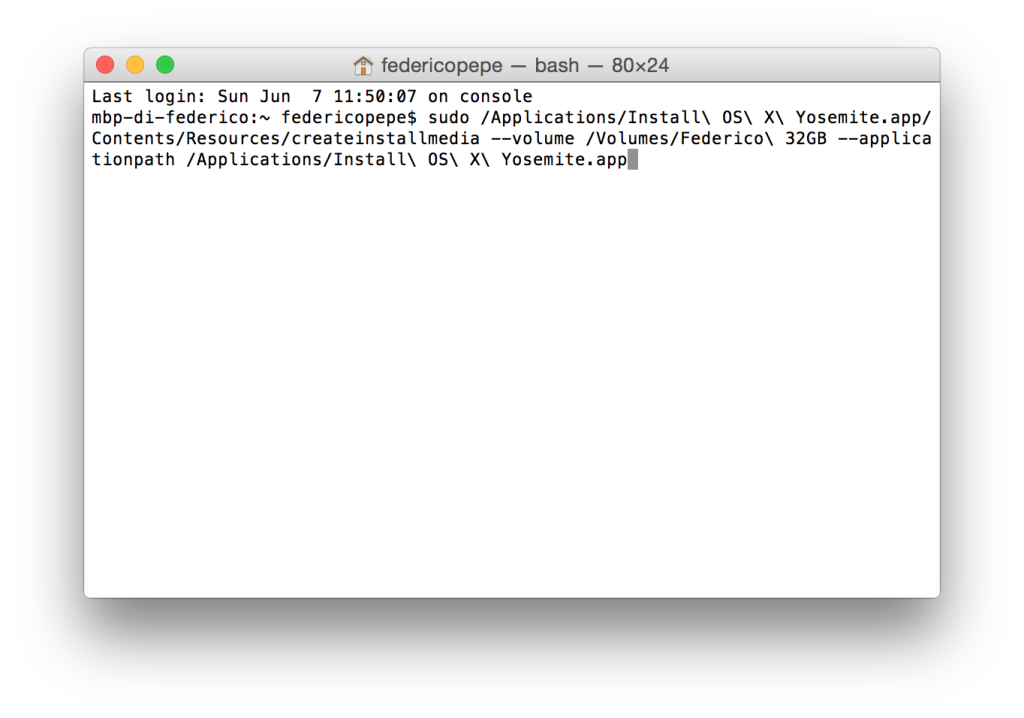 Formatta Mac: creare chiavetta USB