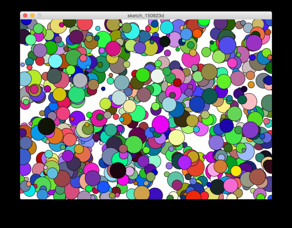 Processing random - esempio 3