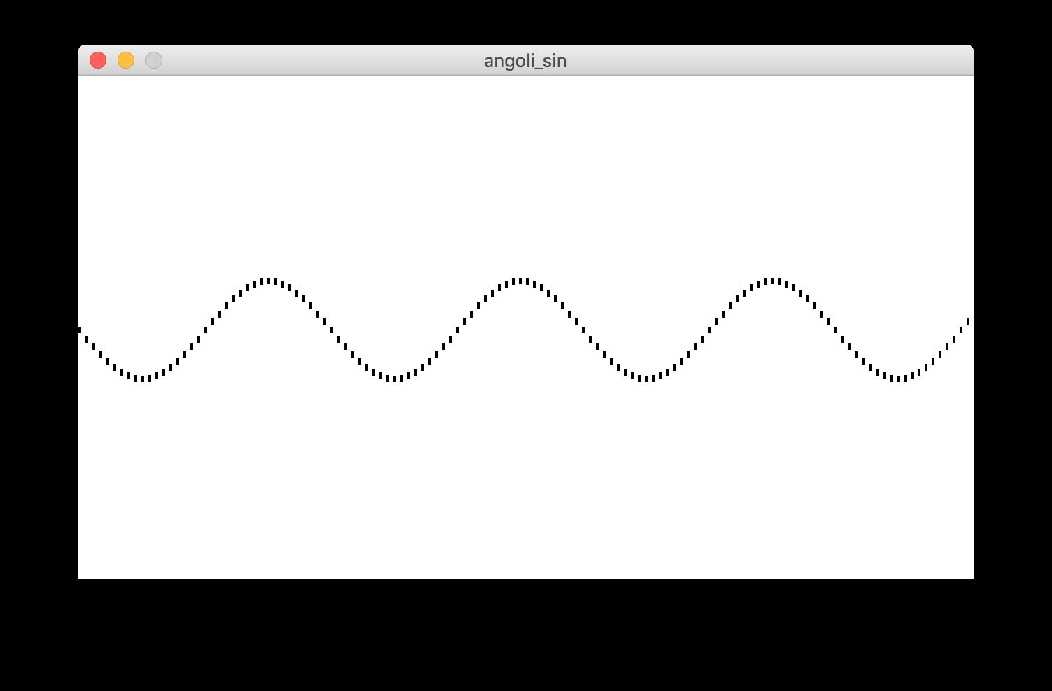 Processing, funzione sin()