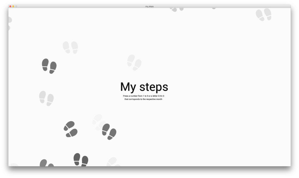 Erika Corallo my steps visualizzazione infografica