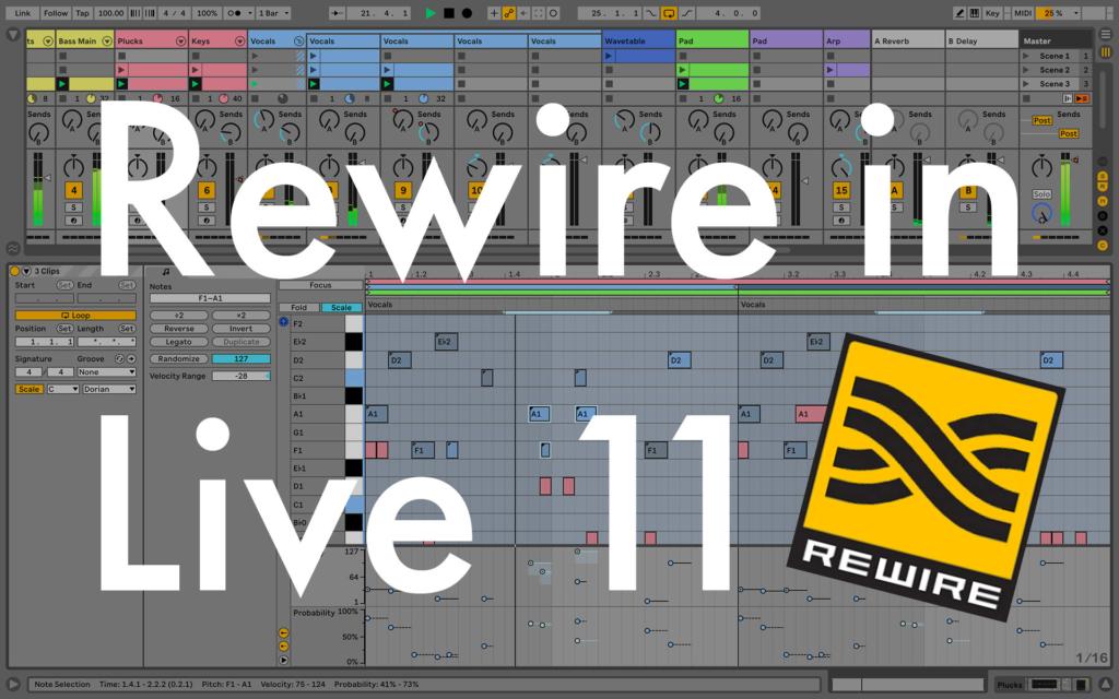 Rewire in Live 11: come attivarlo