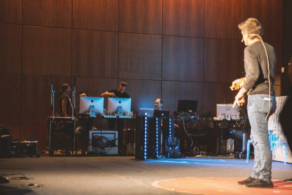 Allestimento tecnico della regia per TEDxVerona