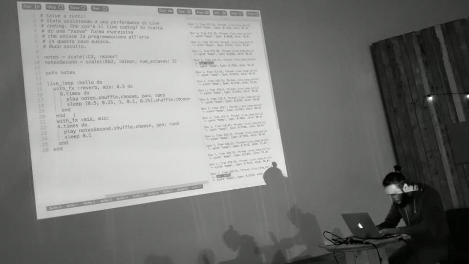 Performance di Live Coding con Sonic Pi
